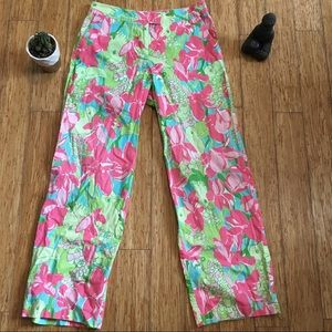 Lilly Pulitzer parrot wide leg pants